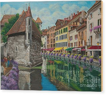 Medieval Jail In Annecy Wood Print by Charlotte Blanchard