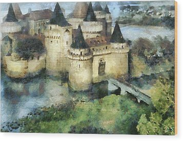 Medieval Knight's Castle Wood Print