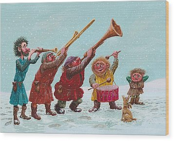 Medieval Merriment Wood Print by Charles Cater