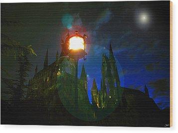 Medieval Night Wood Print by David Lee Thompson