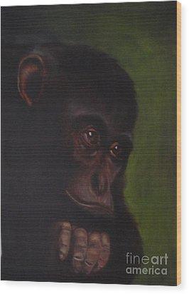 Meditation Wood Print by Annemeet Hasidi- van der Leij