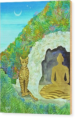 Meditation At Dawn Wood Print by Jennifer Baird