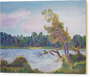 Meditation Lake  Wood Print