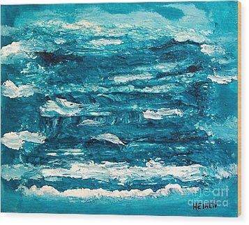 Mediterranean Blue Green Wood Print by Marsha Heiken