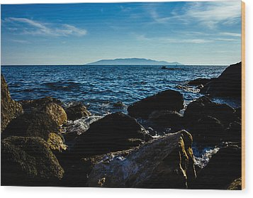 Mediterranean Sea - Argentario Wood Print