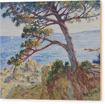 Mediterranean Sea Wood Print