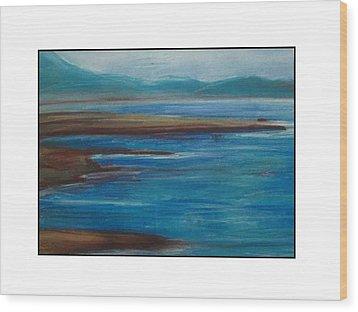 Mediterranean View Wood Print by Angela Puglisi