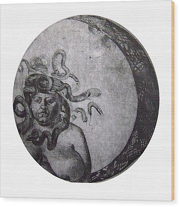 Medusa Wood Print by Adina Iancu