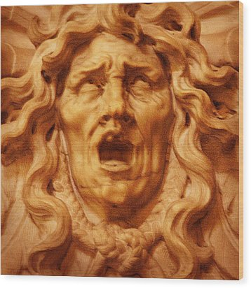 Medusa Gorgona Wood Print by Rodika George