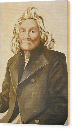 Medweganoonind He Who Is Spoken To Wood Print by Terry Honstead