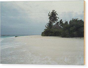 Meedhupparu Beach Wood Print