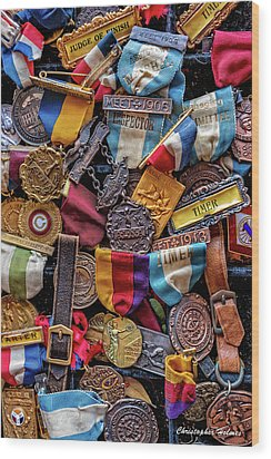 Wood Print featuring the photograph Meet Medals by Christopher Holmes