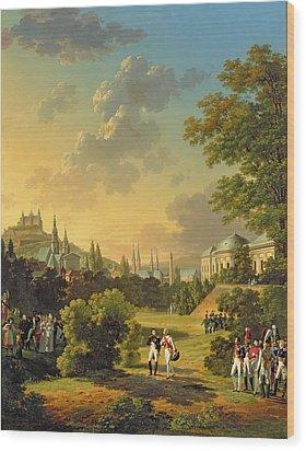 Meeting Between Napoleon I And Ferdinand IIi Wood Print by Hippolyte Lecomte
