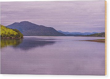 Meeting Of The Lochs  Wood Print by Steven Ainsworth