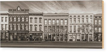Wood Print featuring the photograph Meeting Street - Charleston, South Carolina by Carl Amoth