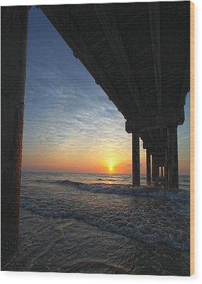 Meeting The Dawn Wood Print