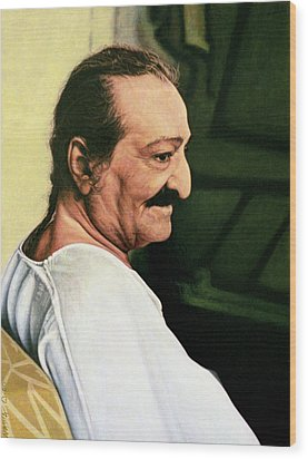 Meher Baba 3 Wood Print by Nad Wolinska