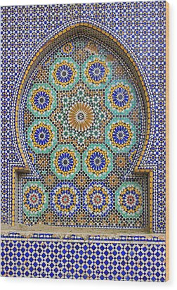 Wood Print featuring the photograph Meknes by Ramona Johnston