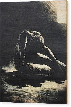 Melancholy Wood Print by Robert Plog