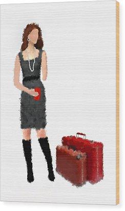 Wood Print featuring the digital art Melanie by Nancy Levan