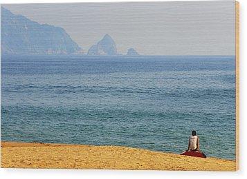 Melaque Surf Wood Print by Skip Hunt