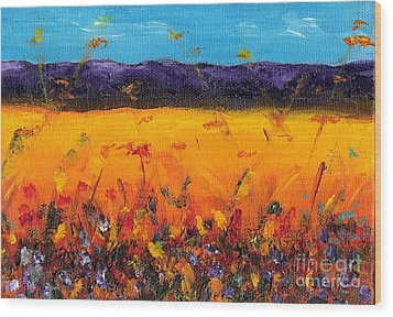 Melissa's Meadow Wood Print by Frances Marino