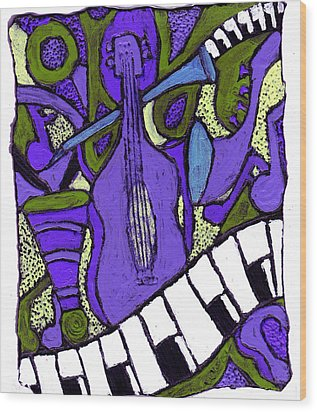Melllow Jazz Wood Print
