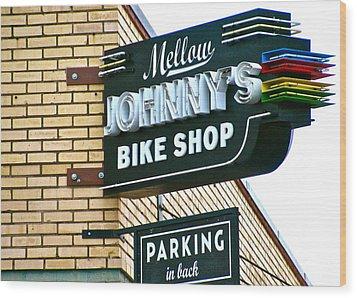 Mellow Johnny's Wood Print by Frank SantAgata