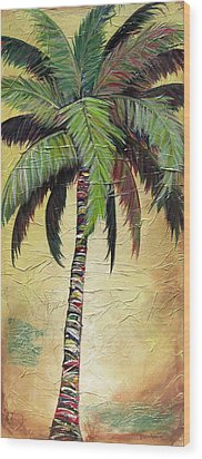 Mellow Palm I Wood Print
