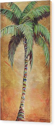 Mellow Palm II Wood Print