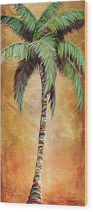 Mellow Palm II Wood Print by Kristen Abrahamson