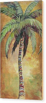 Mellow Palm IIi Wood Print by Kristen Abrahamson