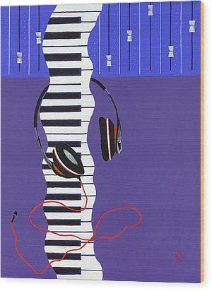Melodic Flow Wood Print by Rishanna Finney