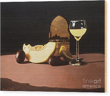 Melon And Orange Juice Wood Print by Daniel Montoya