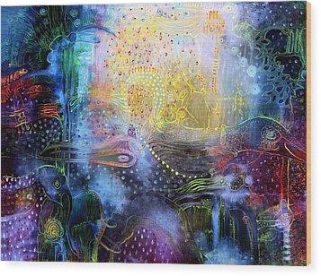 Melted Dream Wood Print by Lolita Bronzini