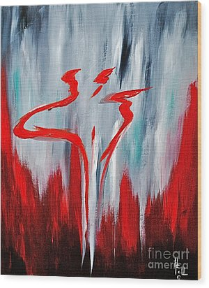 Melting Point  Wood Print by Herschel Fall