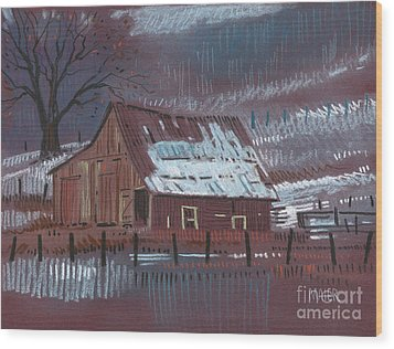 Melting Snow Wood Print by Donald Maier