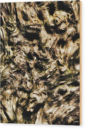 Melting Wood Wood Print by Wim Lanclus