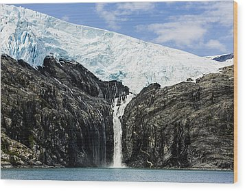 Meltwater From The Northland Glacier Wood Print