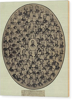 Members Of The U.s. House Wood Print by Everett