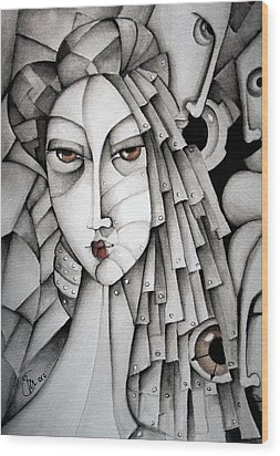 Memoirs Of A Geisha Wood Print by Simona  Mereu
