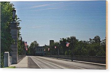 Memorial Avenue Bridge Roanoke Virginia Wood Print by Teresa Mucha