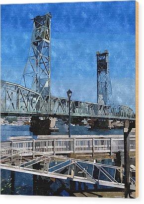 Memorial Bridge Mbwc Wood Print