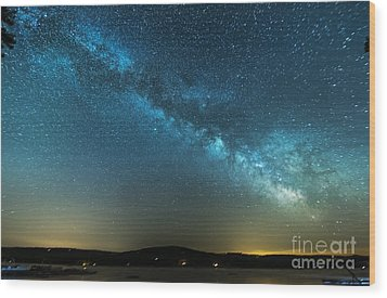 Memorial Day Milky Way Wood Print