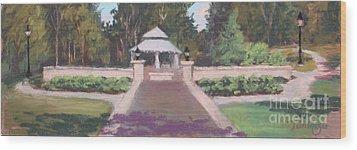 Memorial Garden Lakeside, Ohio Wood Print by Terri  Meyer