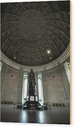 Memorial To Thomas Jefferson Wood Print by Andrew Soundarajan