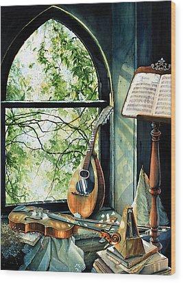 Memories And Music Wood Print by Hanne Lore Koehler