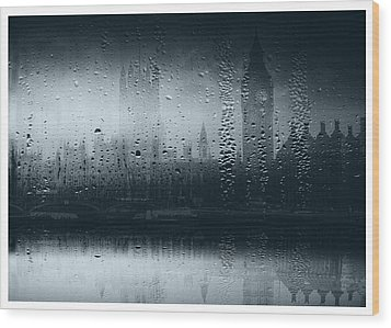 Wood Print featuring the digital art Mystical London by Fine Art By Andrew David