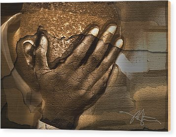 Memories Etched In Stone Wood Print by Bob Salo