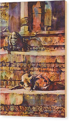 Memories Of Happier Times- Nepal Wood Print by Ryan Fox